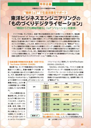東洋ビジネスエンジニアリングの「ものづくりデジタライゼーション」
